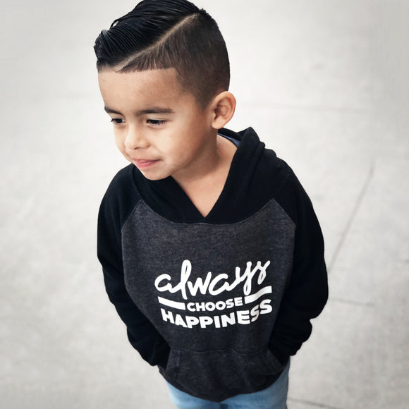 ALWAYS CHOOSE HAPPINESS UNISEX HOODIE - FABVOKAB