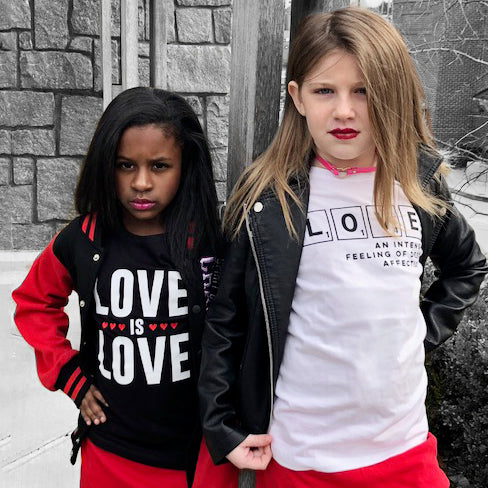 LOVE IS LOVE Short Sleeve Kids T-shirt - FABVOKAB