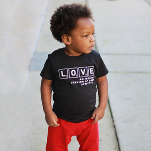 LOVE AN INTENSE FEELING OF AFFECTION Short Sleeve T-shirt - FABVOKAB