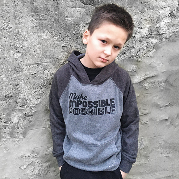 MAKE IMPOSSIBLE POSSIBLE UNISEX HOODIE - FABVOKAB