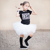 WHITE GIRLS TUTU SKIRT - FABVOKAB