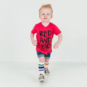 RED AND RAD Short Sleve T-shirt - FABVOKAB