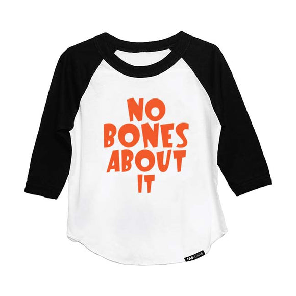 NO BONES ABOUT IT HALLOWEEN DESIGN RAGLAN - FABVOKAB
