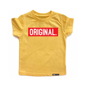 ORIGINAL Yellow Short Sleeve T-shirt - FABVOKAB