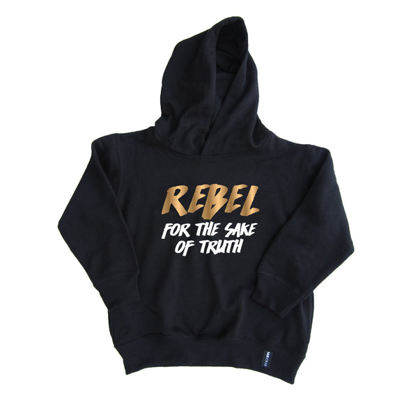 REBEL FOR THE SAKE OF TRUTH KIDS UNISEX HOODIE - FABVOKAB