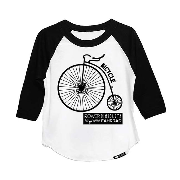 RETRO BIKE MULTI-LANGUAGE RAGLAN - FABVOKAB