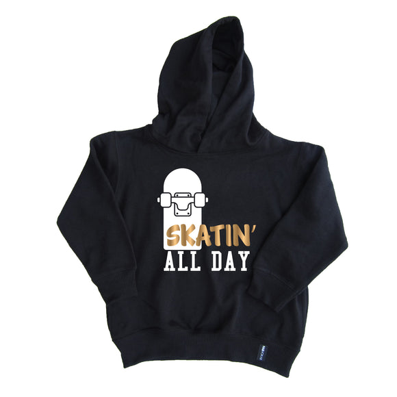 SKATIN' ALL DAY KIDS UNISEX HOODIE - FABVOKAB