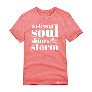 A STRONG SOUL SHINES AFTER EVERY STORM Kids, Teen Short Sleeve T-shirt