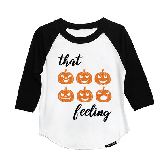 THAT (PUMPKIN) FEELING HALLOWEEN DESIGN RAGLAN - FABVOKAB