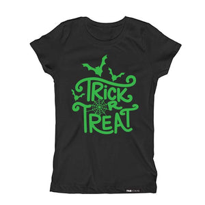 TRICK OR TREAT HALLOWEEN Short Sleeve T-shirt for kids - FABVOKAB