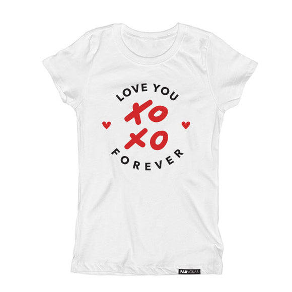 LOVE YOU FOREVER (XOXO) Short Sleeve T-shirt - FABVOKAB