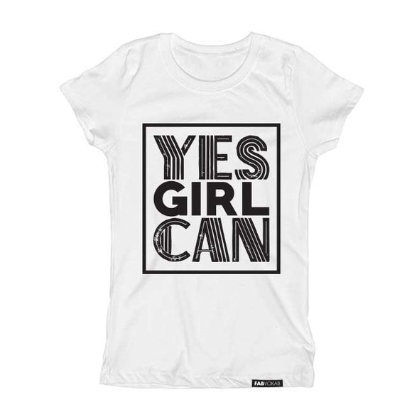 YES GIRL CAN Short Sleeve T-shirt - FABVOKAB