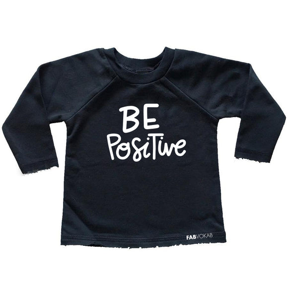 BE POSITIVE FRENCH TERRY RAW EDGES RAGLAN - FABVOKAB
