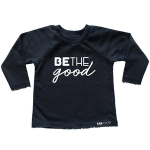BE THE GOOD FRENCH TERRY RAW EDGES RAGLAN - FABVOKAB