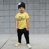 NOT AN ORDINARY KID Yellow Short Sleve Kids T-shirt - FABVOKAB