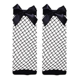 GIRLS FISHNET BOW SOCKS - FABVOKAB