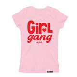 GIRL GANG #LOVE Pink Short Sleve T-shirt - FABVOKAB