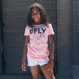 #FLY GIRL Camo and Pink Short Sleve T-shirt - FABVOKAB