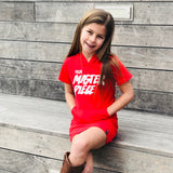YOUR MASTERPIECE GIRLS HOODED RED DRESS WITH KANGAROO POCKET (ONLY IN SIZE 3T) - FABVOKAB