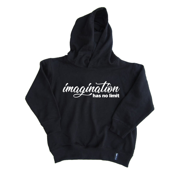 IMAGINATION HAS NO LIMIT KIDS UNISEX HOODIE - FABVOKAB
