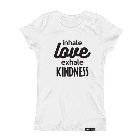 Inhale LOVE exhale KINDNESS Kids, Teen Short Sleeve T-shirt