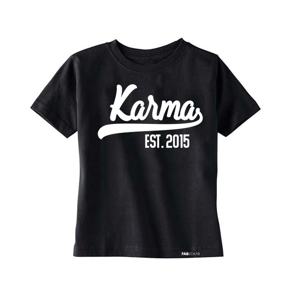 KARMA Custom Kids Short Sleeve T-shirt - FABVOKAB