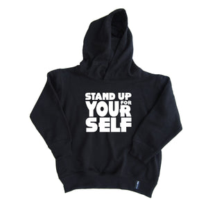 STAND UP FOR YOURSELF KIDS UNISEX HOODIE - FABVOKAB