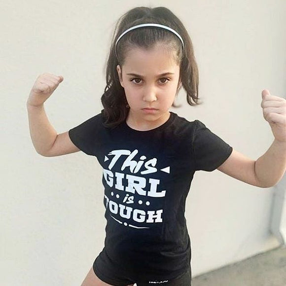 TOUGH GIRL Short Sleeve Kids, Boys, Girls, Teen T-shirt