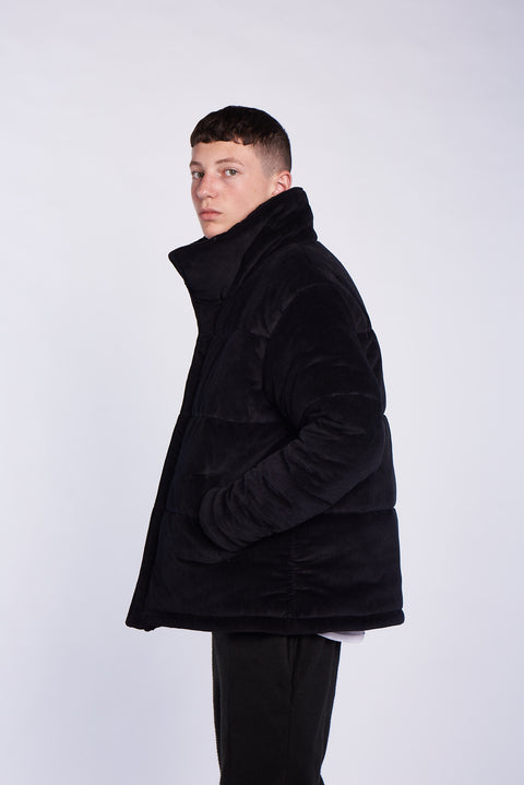 BLACK LOGO Worker Coat
