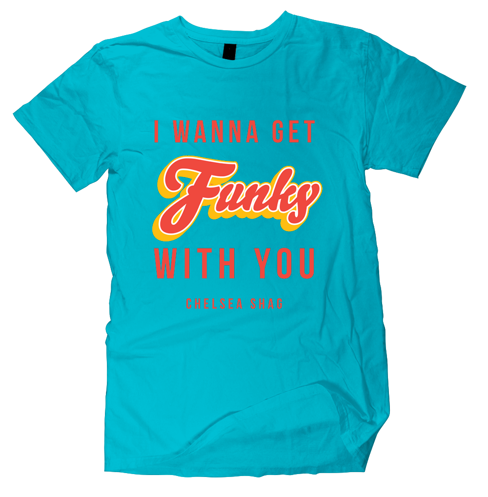 Funky With You Tee - Blue