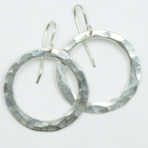Silver Pirori Hoop Earrings