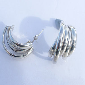 Silver Stacker Earrings