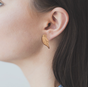 Rimu Ruru/Morepork Earrings