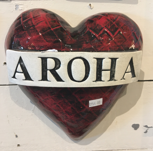 Aroha ceramic heart