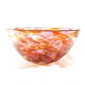 Red & Pink Glass Bowl