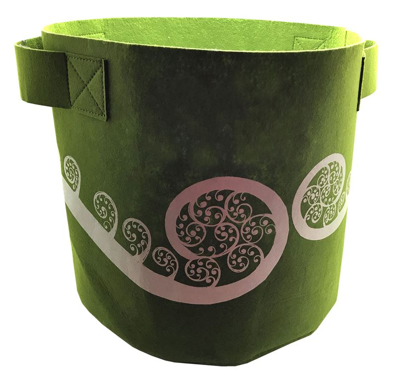 7 Gallon Ecofelt bag - Green Ponga