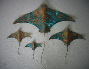 Set of 4 Copper Stingray