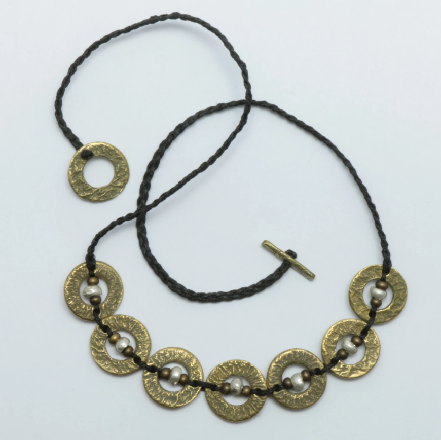 Brass and Silver Amionga Necklace
