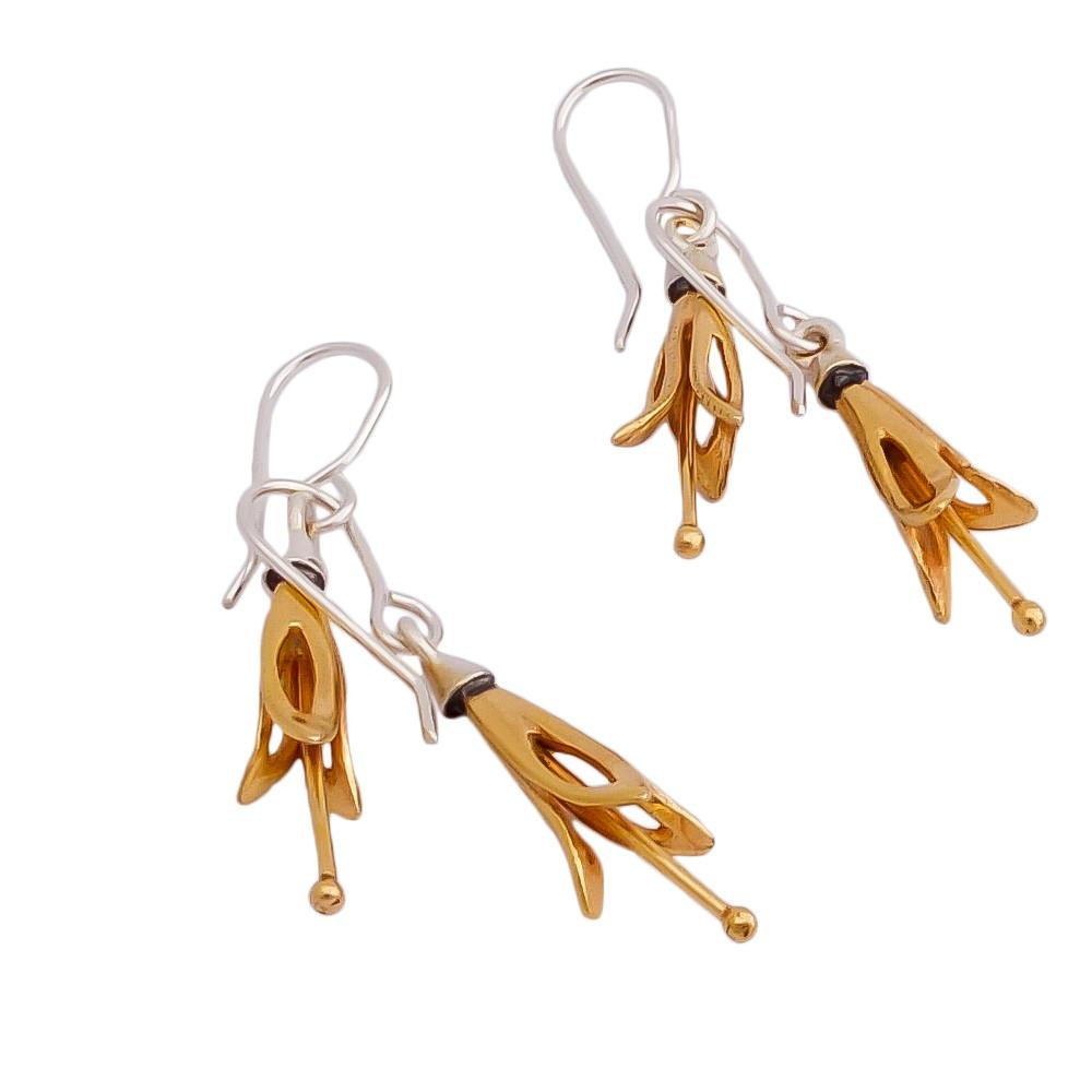 Yellow Harakeke Flower Earrings