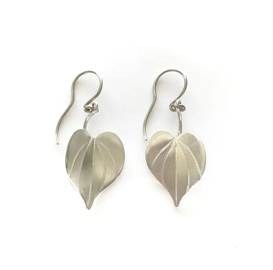 Silver Kawakawa earrings