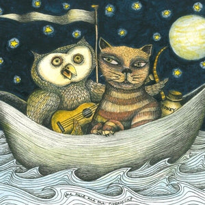 'Owl and the Pussy Cat' print