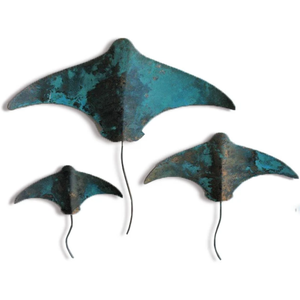 Set of 3 Copper Stingray