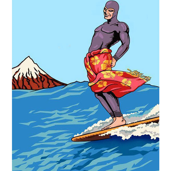'The Ghost Who Surfs' print