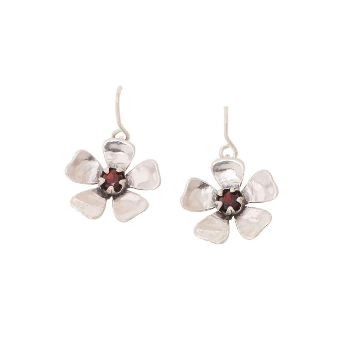 Red Mānuka Flower Earrings