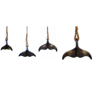 Bronze Whale's Tail hanging Wall Art