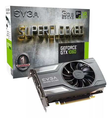 Evga 03 G P4 6162 Kr Gtx 1060 Tarjeta De Video Sc Gaming 3 Gb Gddr5