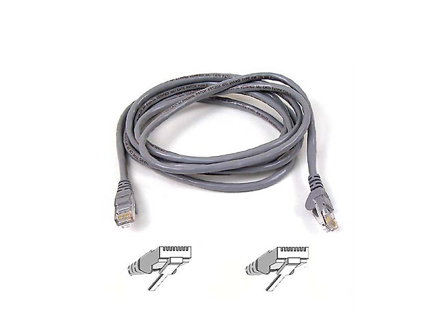 BELKIN A3L791-03-BLK-S Cable Patch CAT5E 90cm UTP RJ45M/RJ45M