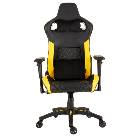 Silla Gaming Corsair T1 Race Reclinable 4 D Negro Amarillo - ordena-com