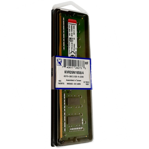 Kingston Kvr26 N19 S6/4 Memoria Ddr4 4 Gb 2666 Mhz
