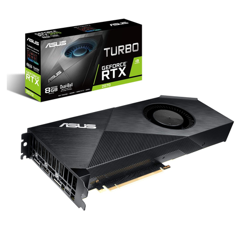 Asus Turbo Rtx2070 8 G Tarjeta De Video Gddr6 8 Gb 256 Bit Hdmi Dp